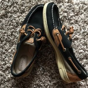 Sperry's Boat Shoes Black/Brown Size 6.5